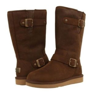 Women's Ugg Leather Buckle Boots